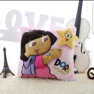 In stock 3D Dora explorer cushion hugging pillow size is 30 × 30cm