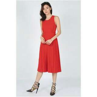 Love Bonito Aletea Red Pleated Dress