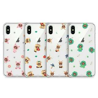 Line Friend長頸鹿/恐龍iPhone case