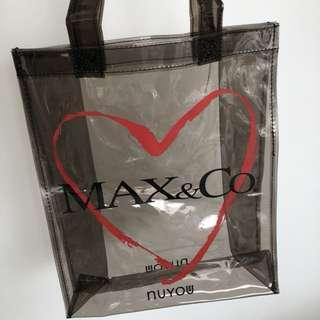 New max&co bag transparent