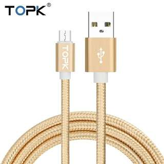 USB CABLE DATA SYNC CHARGING ROSEGOLD 50CM TOPK CHARGE