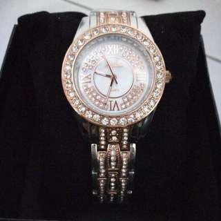 Mashali Brand new fashion and durable trend full of drilling Roman women s diamond watch strap ladies watch