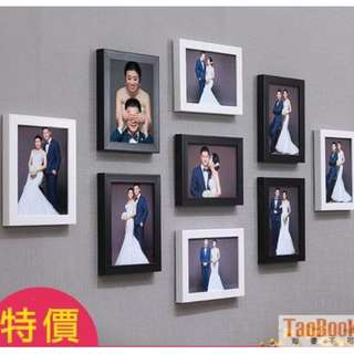 簡約照片牆裝飾 客廳相框牆 創意相框掛牆 7吋九宮格臥室組合相片牆