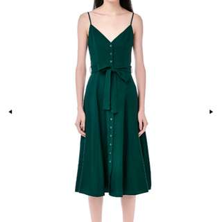 The Editor's Market (TEM) Delfino Midi Dress in Kale in Size M