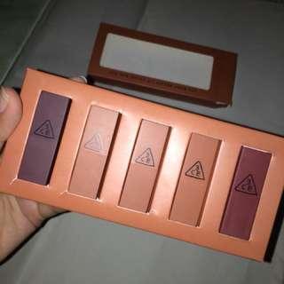 3CE Lip Color Mini Kit