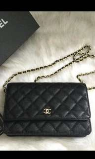 Chanel WOC quilt sling bag