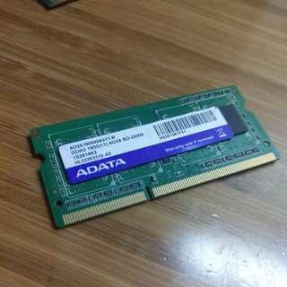 手提電腦 Ram 4gb ddr3 Laptop 記憶體