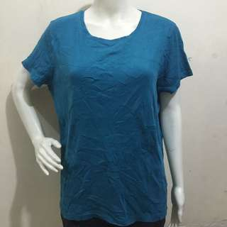 ST JOHNS BAY torquoise green ladies tshirt/blouse xl