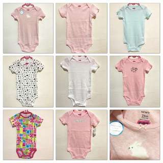 BN Carter's Baby Girl Rompers