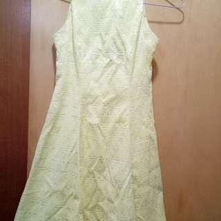 VRG bright yellow dress