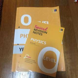 O Level physics yearly TYS + Revision guide