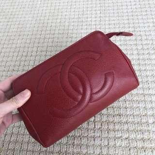 Chanel 紅色17cm 化妝包