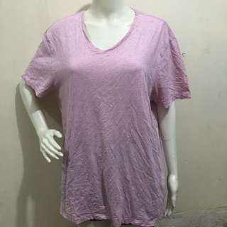 BANANA REPUBLIC pink soft washed plus size ladies blouse/tshirt xl