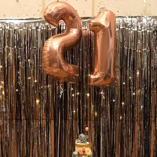 40 inches Rose Gold (Metallic Pink) Foil Helium Balloons