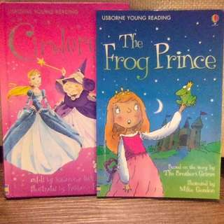 Two Usborne young reading classic fairy tales and a Geronimo stilton book