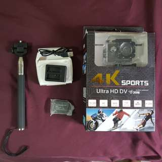 BNIB 4K 30FPS Water-resistant Sports Action Camera
