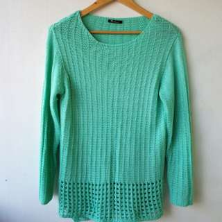TEAL KNITTED TOP