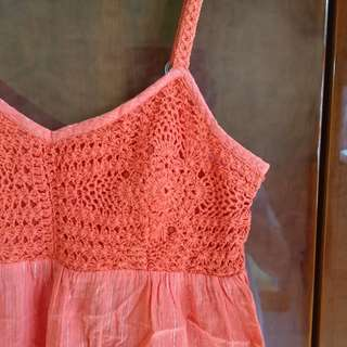 NEWLOOK Red Pink Sparkly Spaghetti Straps Top