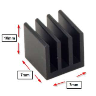 Heatsink for motherboard mosfet