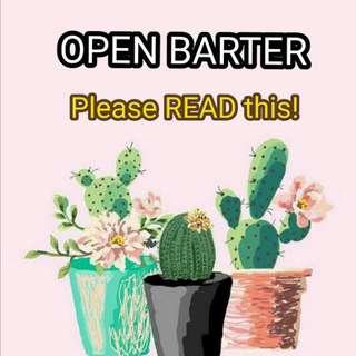 OPEN BARTER (Tertentu)