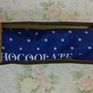 Chocolate 藍色波點傘