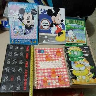 雜 卡通 鐵圈筆記本 蛇仔圈筆記簿 Notebooks Disney Winnie The Pooh / Little Dinosaur / Sanrio Pochacco Dog / Mickey Mouse / We Are The Children Note Book About A5 Size