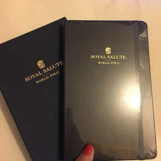 Moleskine X Royal Salute Large Black Plain Notebook (Special Edition)