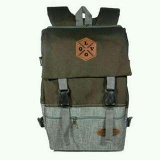 Qilvano Tas Ransel Pria Backpack Outdoor Korean Style 35 Liter Slot Laptop 1205 - ZV 16 Inch - Free Raincover Waterprooff