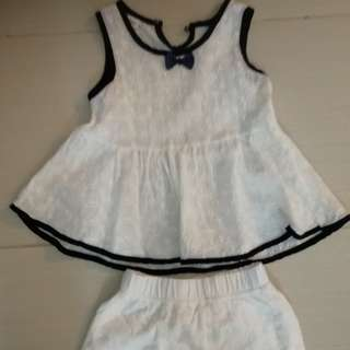 2-3 yrs old girl's top and short
