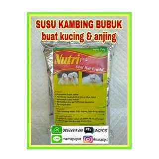 Susu Kucing/Anjing ~ Nutri Plus Goat Milk Powder 200gr
