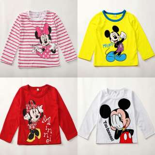 Baby Girl Boy Cartoon Printed Long Sleeves Pullover