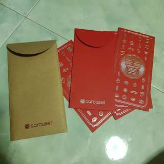 Brand new Carousell Red Packets ang pow -5 pcs inside