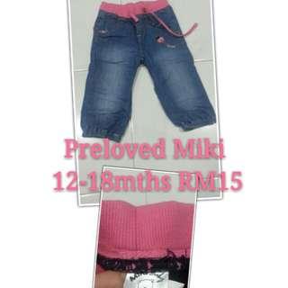 Preloved Miki 12-18mths RM15 exc pos