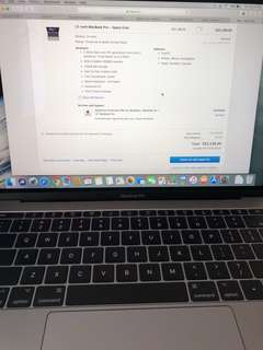 MacBook Pro Retina Display with 3 yrs coverage plan