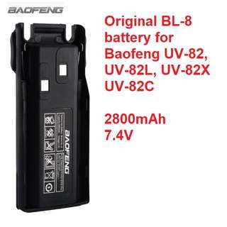 New, original BL-8 Baofeng 2800mAh 7.4V Rechargeable Replacement Battery Pack for Baofeng UV-82 UV-82X UV-82C Two Way Radio