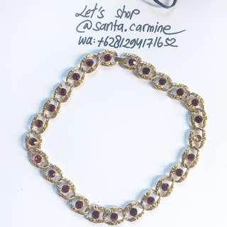 kalung permata kuningan eropa dari florence firenze italia