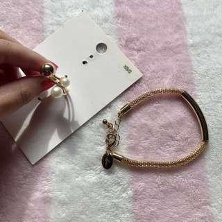 Gold Plated Ring & Bracelet