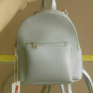 Mini Backpack silver
