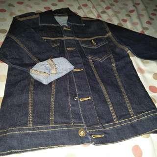 Jaket jeans anak pria