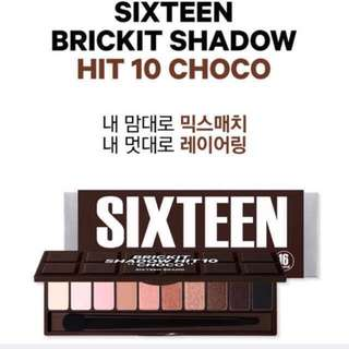 Quick Preorder >> 16brand eyeshadow palette holiday collection brickit shadow hit 10 Choco