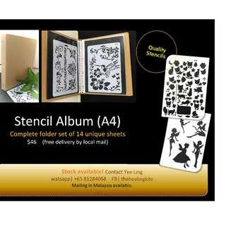 Stencil album A4, 14pcs