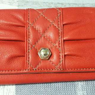 Liz Claiborne Pink Leather Wallet