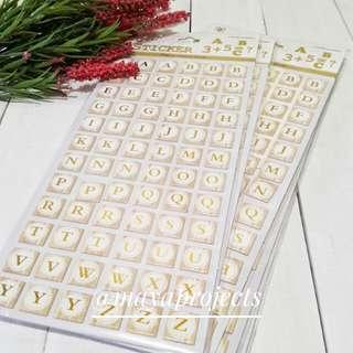 Alphabet Sticker Gold