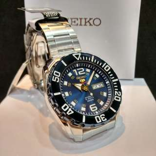 * FREE DELIVERY * Brand New 100% Authentic Seiko 5 Sports Blue Dial Automatic Mens Casual Watch SRPB37 SRPB37K