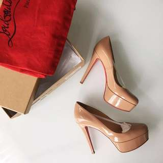 Louboutin Bianca 120mm Patent nude Pumps size 35 /5