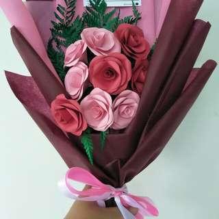 Buket Bunga Mawar Kertas/ Paper Flowers Bouquet