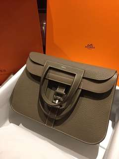 *Hermes Halzan 31 Etoupe* (bought in Paris)