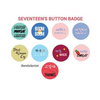 SEVENTEEN'S BUTTON BADGE