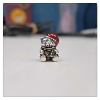 Pandora 聖誕熊仔charm