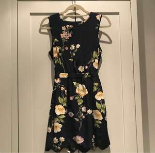 Urban Outfitters Floral Scallop Dress